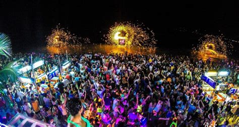 new year 2018 koh samui thailand s moon ends with ravers completely