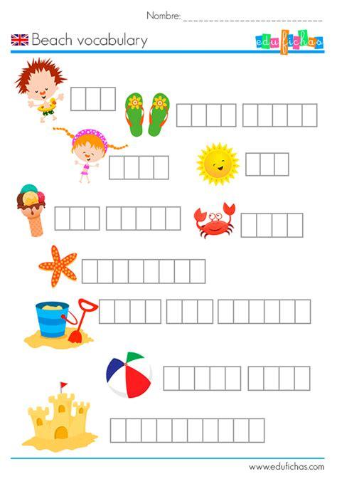 imagenes vacaciones en ingles vocabulario de playa en ingl 233 s fichas de actividades