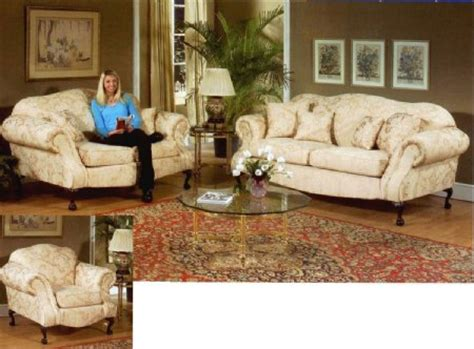 queen anne living room furniture traditional queen anne formal living room collection sofa and loveseat ebay