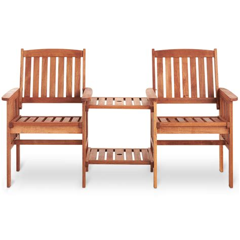 love bench garden furniture vonhaus garden love seat bench 2 seater hardwood outdoor