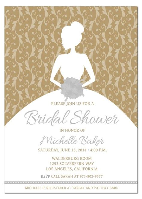 Printable Diy Bridal Shower Invitation Template With Wedding Shower Invitation Template
