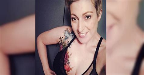 mom turns lumpectomy scars into a beautiful and eye