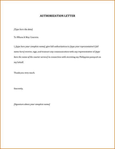 authorization letter draft format 8 how to write authorization letter lease template