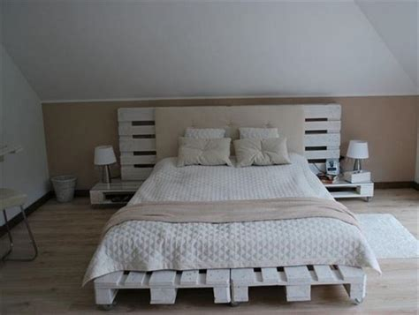 Pallet Bedroom Furniture Diy Wooden Pallet Bed Ideas Pallets Designs