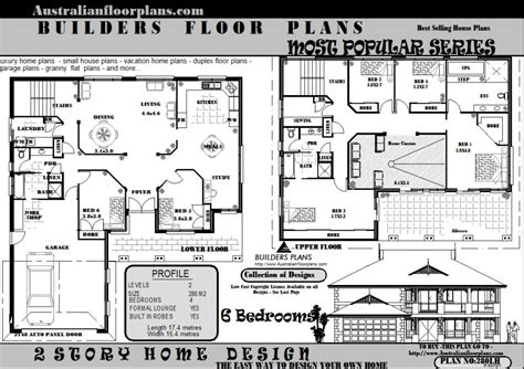 6 Bedroom 2 Storey House Floor Plans Blueprints Sale Ebay 6 Bedroom Two Storey House Plans