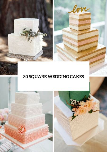 square wedding cake 30 gorgeous square wedding cake ideas weddingomania us226