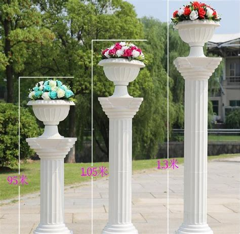 Columns For Decorations by Wedding Decorations White Plastic Columns Road Cited