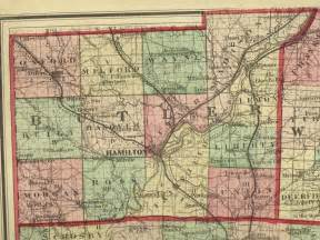 Ohio Township Map by 1875 Map Of Butler County Ohio