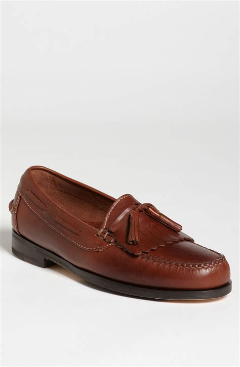 cole han loafers cole haan braddock loafer in brown for saddle lyst
