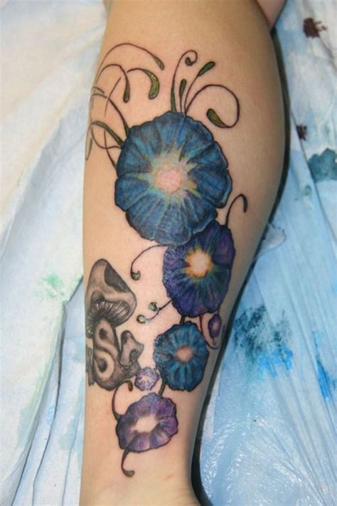 morning glory tattoo designs detailed morning design design of