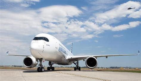 airbus a350 takes maiden flight in china org cn