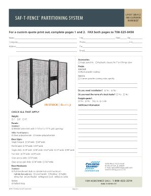 Fence Estimate Template Fill Online Printable Fillable Blank Pdffiller Fence Estimate Template