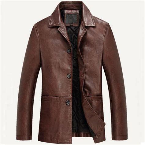 nieuwe mode merk mannen lederen kleding zachte pu lederen