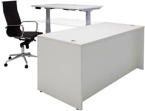 electric lift height adjustable l shaped desks