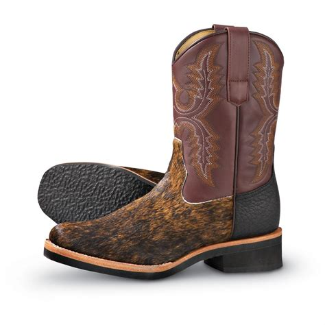 mens roper boots sale s roper 174 hair on crepe western boots brown 117049