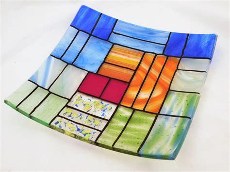 Blink Mix Square a square fused glass plate quot a gentle color mix quot