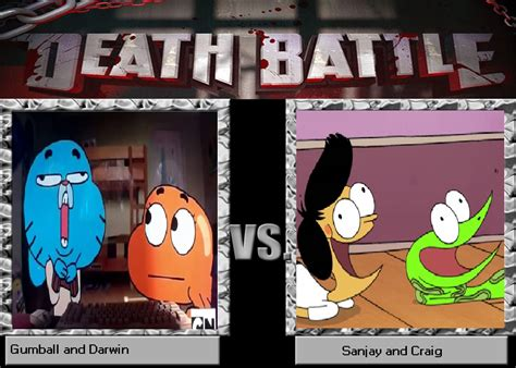 the amazing world of gumball card template gumball and darwin vs sanjay and craig by gumball