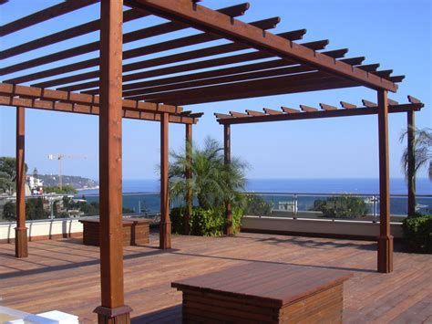 progetto per gazebo in legno strutture sicilia tende