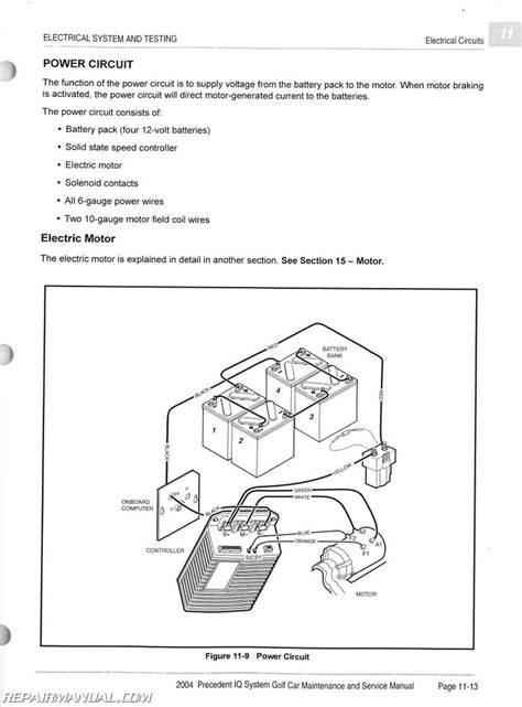 2004 club car precedent parts wiring diagrams wiring
