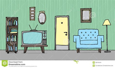 cartoon living room background inside a house dawing background an empty living room 12869616