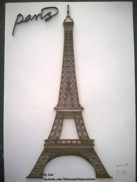 Eiffel Tower Papercraft - 17 best images about quilling on quilling