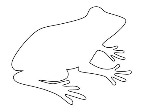 frog outline template printable frog pattern use the pattern for crafts