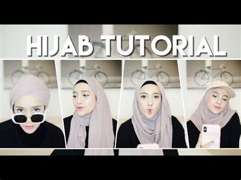 tutorial pashmina ciput topi simple hijab tutorial 5in1 pake topi youtube