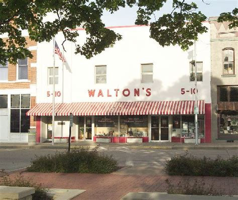 sam walton s first five and dime store in bentonville sam and bud walton historic missourians the state