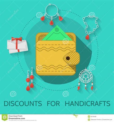 Handmade Handicraft Items - flat design illustration of handicraft stock illustration