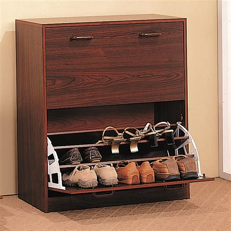 Closet Shoe Shelves Wood by Shoe Rack Two Tier Cherry Shoe Rack Closet Wood Storage