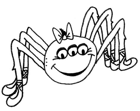 Itsy Bitsy Spider Coloring Coloring Pages Itsy Bitsy Spider Coloring Page