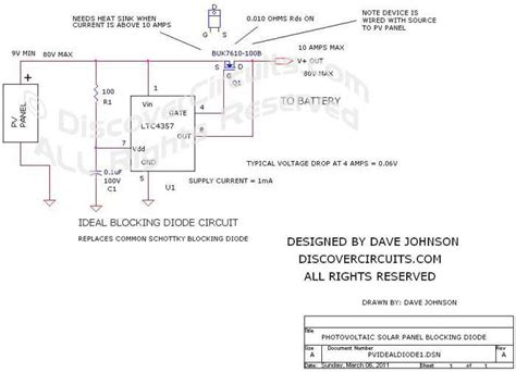the ideal diode pdf circuit ideal blocking diode circuit for photovoltaic solar panels