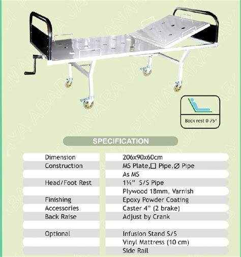 hospital bed dimensions hospital equipment indonesia