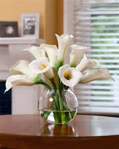 Cylinder Vases Centerpieces Buy Calla Lily Silk Flower Centerpiece At Petals