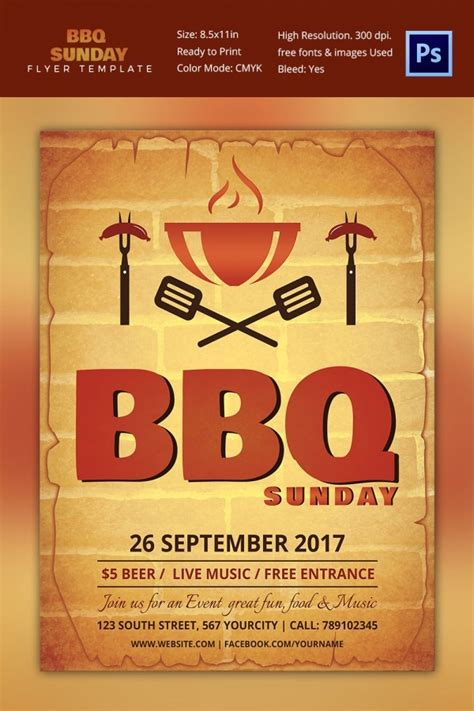 25 Bbq Flyer Template Free Word Pdf Psd Eps Indesign Format Download Free Premium Free Template For Flyer