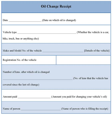 How To Change Template receipt template for change exle of change