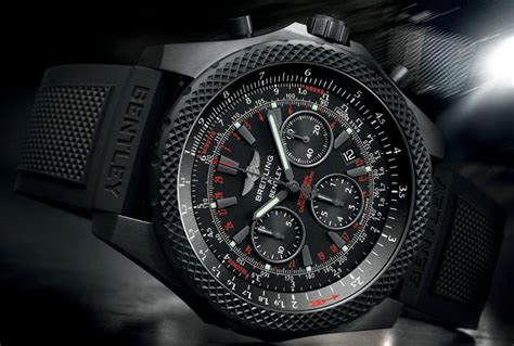 Pilot Watchs Army Edition by Breitling For Bentley Light Midnight Carbon Chronograph