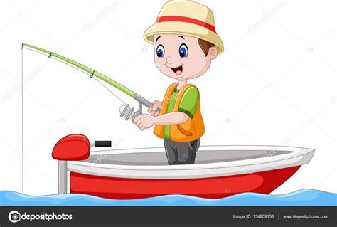 barcos de pesca animados ni 241 o de dibujos animados en un barco de pesca vector de