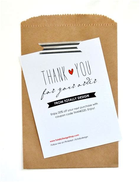 thank you packaging card template business thank you cards instant by totallydesign
