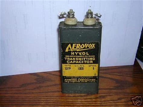 capacitor ham radio aerovox filled transmitting capacitor ham radio