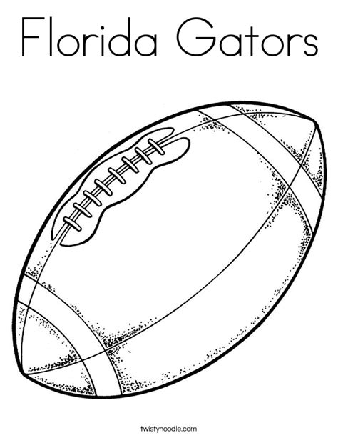 florida gators coloring page twisty noodle