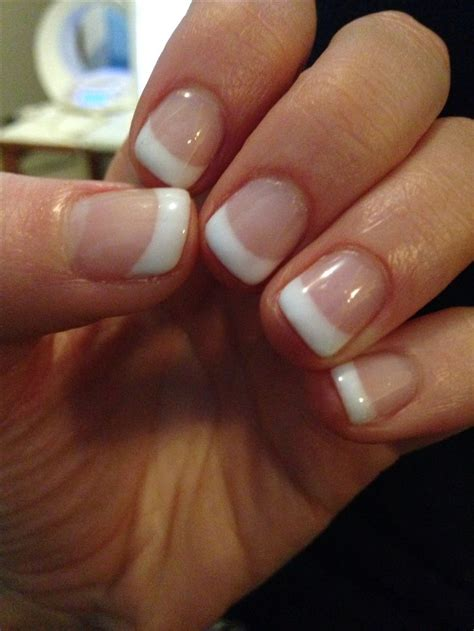 best color for short fingernails best 25 shellac french manicure ideas on pinterest