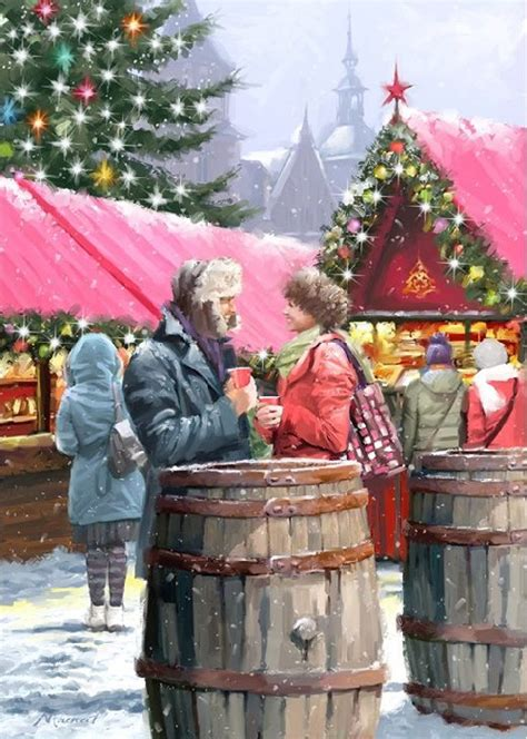 christmas eve  painting  richard macneil art kaleidoscope