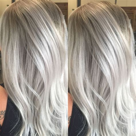 silver blonde color hair toner silver hair grey hair white hair my work pinterest