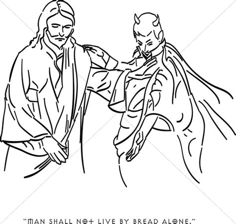 coloring page jesus being tempted satan tempts jesus with earthly riches temptation of