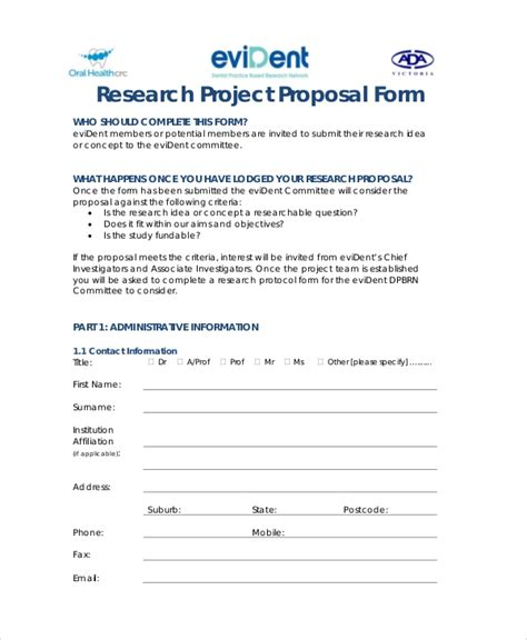 research proposal template samples word  pages
