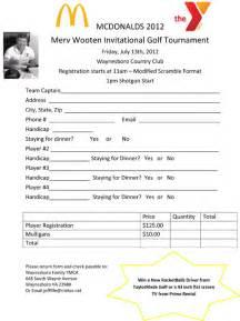 mcdonald s wooten golf tourney registration form