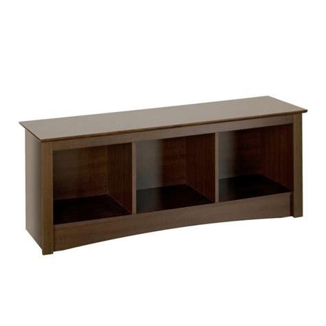espresso storage bench espresso cubbie storage bench esc 4820