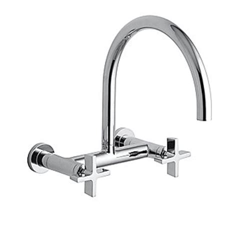 kallista kitchen faucets kallista one wall mounted bridge kitchen faucet cross handles p25203 cr