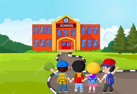 imagenes niños que van ala escuela dibujos animados de ni 241 os peque 241 os van a la escuela